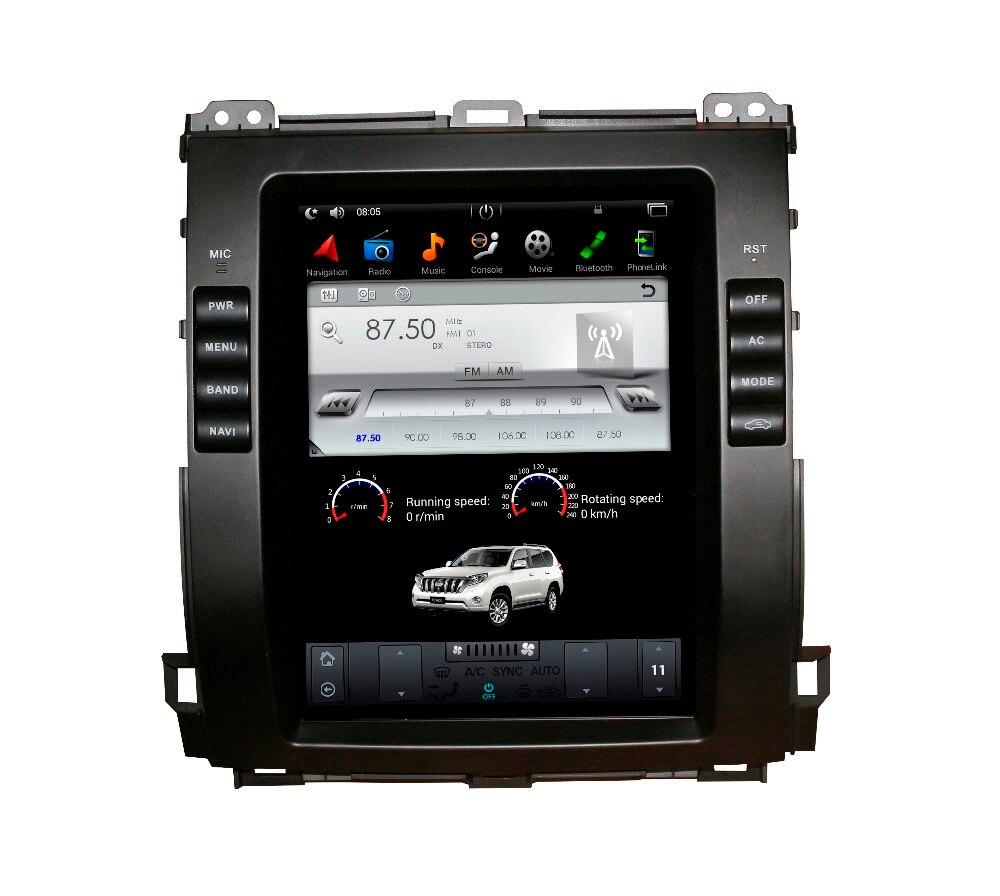 2 Din Тесла Стиль 10,4 дюймов Android 7,1 автомобиль gps навигации dvd плеер для Toyota Land Cruiser Prado 120 2002 2009/Lexus GX470