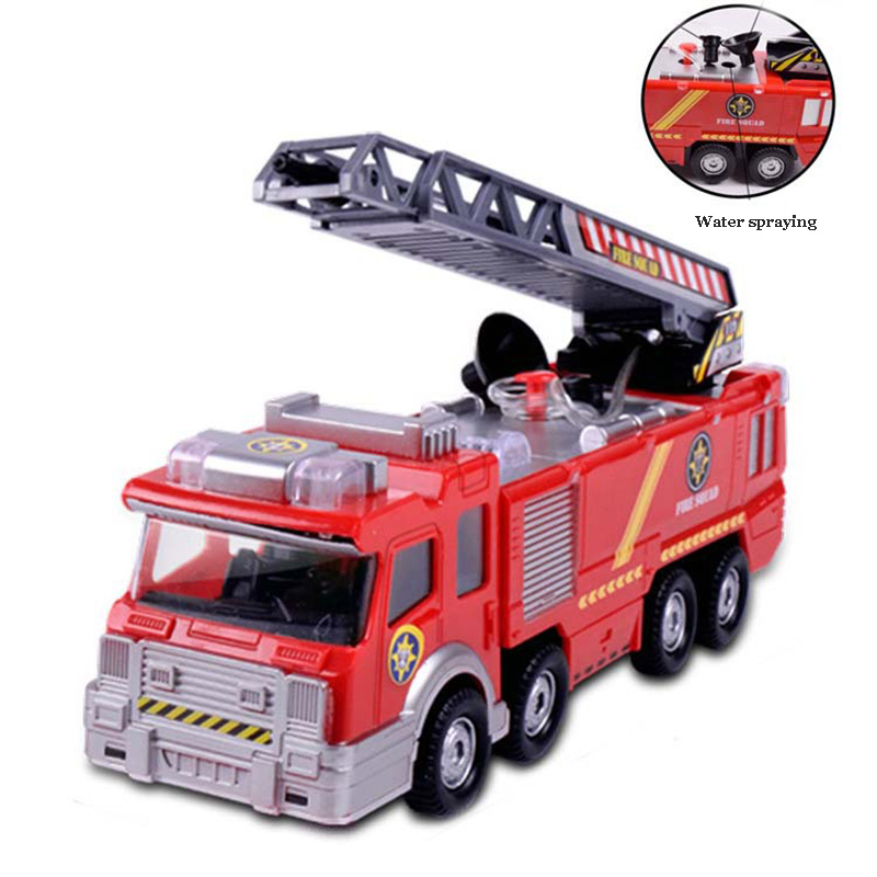 Toys & Hobbies Reliable Spray Water Truck Toy Fireman Fire Truck Car Music Light Educational Toys Boy Kids Toy Gift Elegant In Style