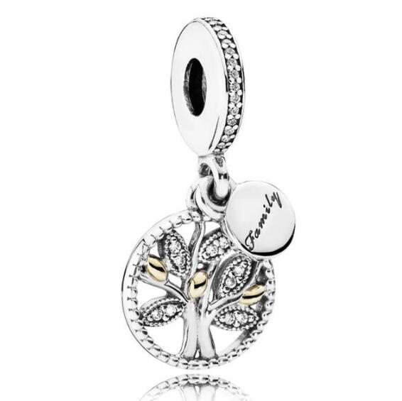 925 Sterling Silver Family Charms Crystal Tree Of Life Beads Fit Pandora Bracelet & Necklace For Women Berloque Pulsera Jewelry925 Sterling Silver Family Charms Crystal Tree Of Life Beads Fit Pandora Bracelet & Necklace For Women Berloque Pulsera Jewelry