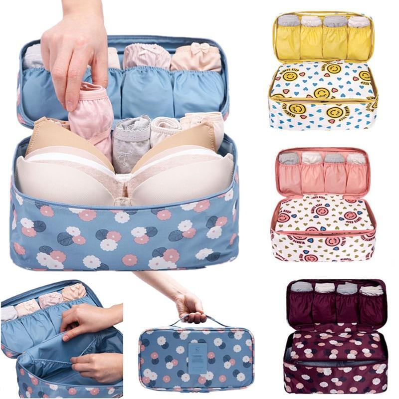 Women Travel Bra Underwear Lingerie Organizer Bag Cosmetic Makeup font b Toiletry b font Wash Makeup
