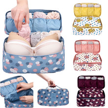 Women Travel Bra Underwear Lingerie Organizer Bag Cosmetic Makeup Toiletry Wash Makeup Tools Kit