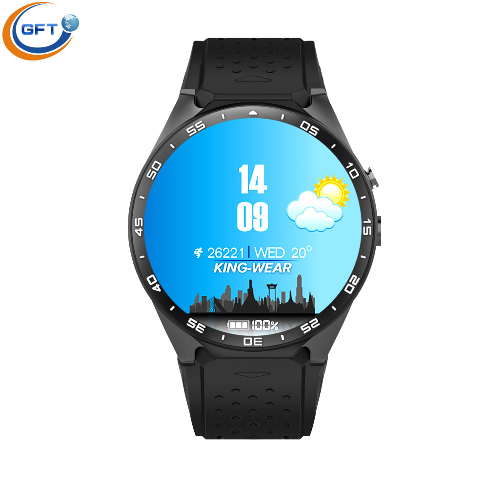 GFT KW88 wifi smart watch sim smart health gps android 5 1 system watch with heart