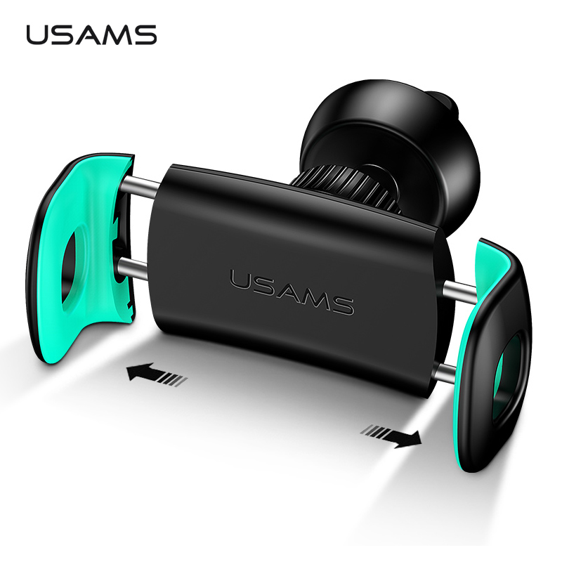 USAMS Car Phone Holder Stand 360 degree Mount Phone Holder in Car Air Vent Mount Elastic Stand for iPhone XS max Car Holder