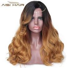 """Я парик 20 """"Long Black Ombre Golden Aisi Hair Wig Synthetic Cosplay Теплостійкі парики для волосся для жінок можуть бути Cosplay"""