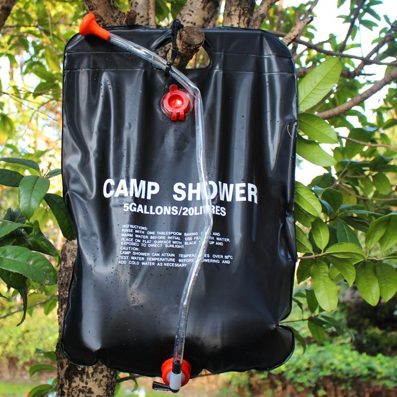 20L vízzsák összecsukható napenergiával fűtött tábor PVC - Kemping és túrázás - Fénykép 1