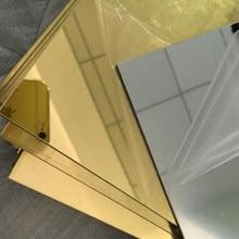 Espejo acrílico de forma arbitraria, espejo de cristal PMMA Pier, Espejos decorativos de plástico, podemos personalizar muestras