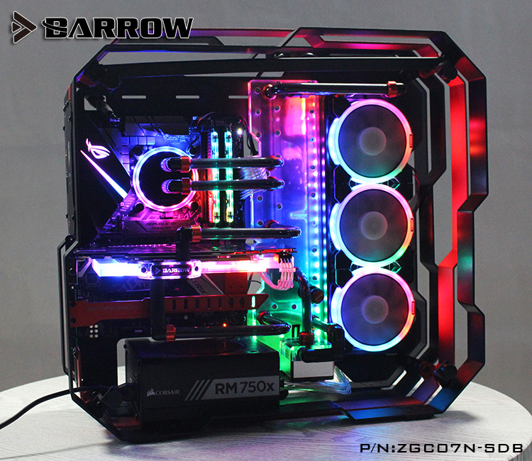 Barrow Acrylic Board as Water Channel use for Zidli ZG07 Computer Case for Both CPU and GPU Block RGB 5V 3PIN Waterway Boards цена и фото