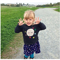 New 2016 Spring Kids Choses Baby Girl sweater Lovely Star Face Print knitted Woolen Cotton Kids Boys Sweater Shirt Brand Blouse