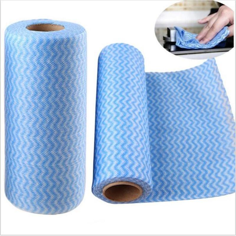 Amy Multipurpose Disposable Breakpoint Non Woven Kitchen Towels Dish Towel Cleaning Cloth 50pcs In Roll Gles Wipes Cloths From Home