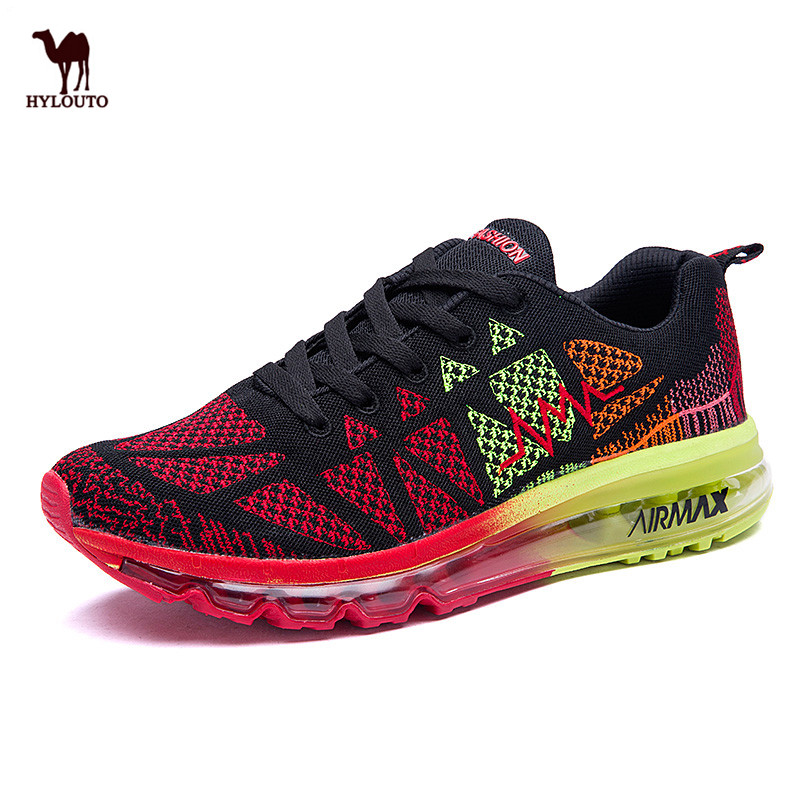 Top Quality Running Shoes Sneaker Men Autumn Breathable Net Air Cushion Walking Jogging Cool Male Shoes Fitness Men Sports Shoes high quality original kids sneaker skid proof cushion running shoes athletic breathable children sport shoes xrkb001