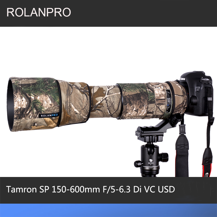 ROLANPRO Lens Camouflage Rain Cover for Tamron SP 150-600mm F/5-6.3 Di VC USD (A011) Lens Protective Case Guns Sleeve Foto Bag объектив tamron sp af 150 600mm f 5 6 3 di vc usd nikon