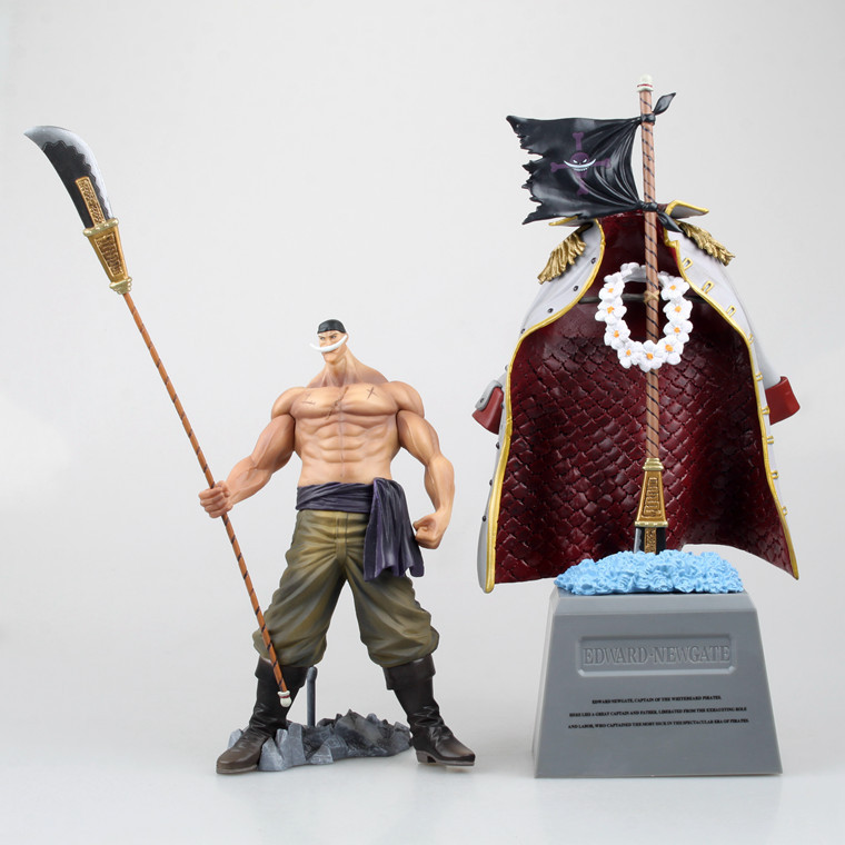 2015 30cm One Piece POP Edward Newgate & tombstone White Beard Emperors Anime Figure toys for children collection PVC Action 35cm japanese anime one piece pop edward newgate pvc action figures toys in box retail free shipping