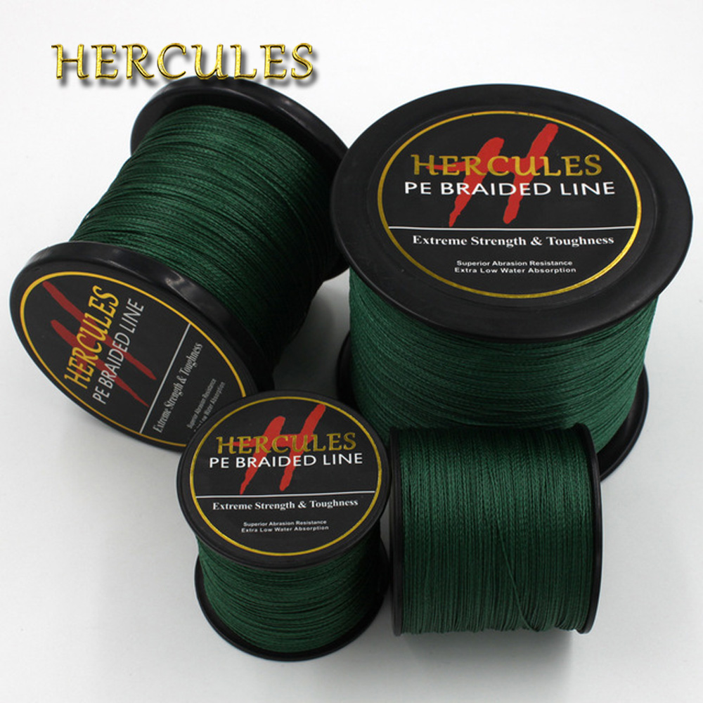 4 Strands 100M 300M 500M 1000M 1500M 2000M PE Green Braided Fishing Line Sea Saltwater Fishing Weave Extreme SuperPower Hercules