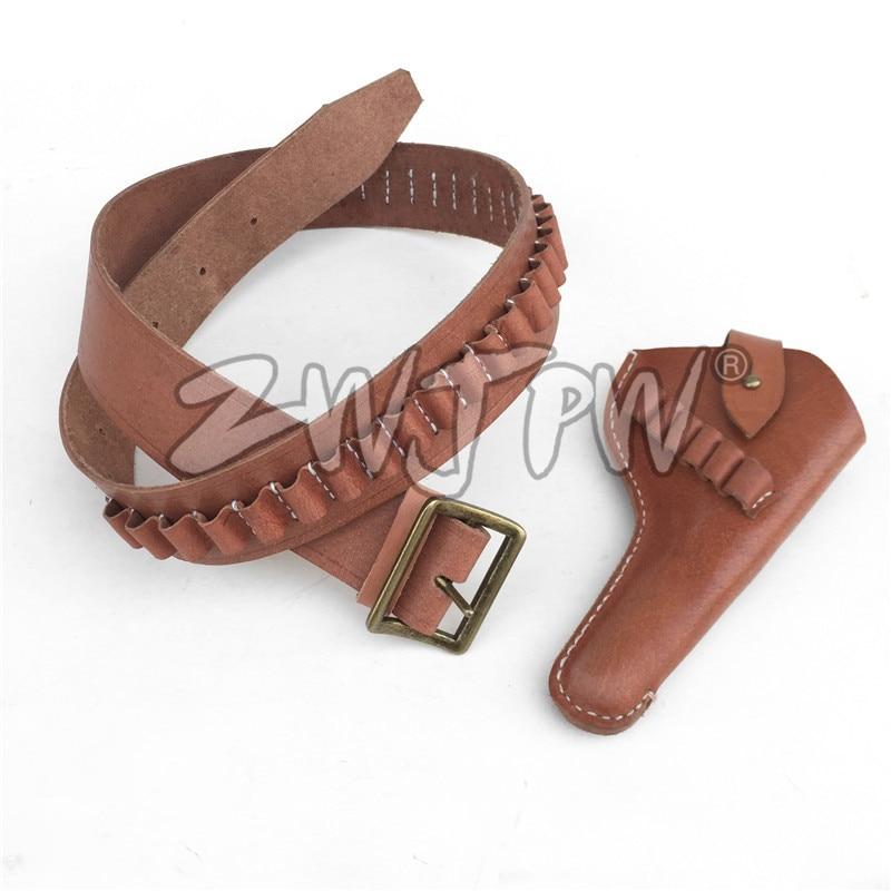 Hunter Brown Leather Holster Belt Vintage 5