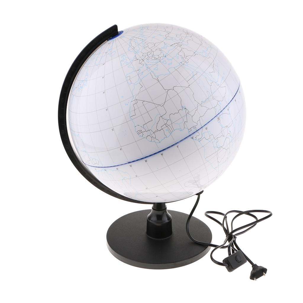 Kit éducatif pour enfants avec lampe de nuit et Globe de monde en rotation illuminé décor à la maison-prise EU