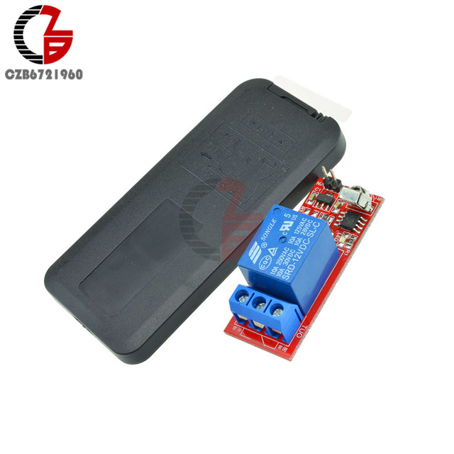 DC 5V 12V 1 Channel Relay Module Infrared IR Remote Switch Control 1 CH Relay Driving Board Controller for Electronic DIY