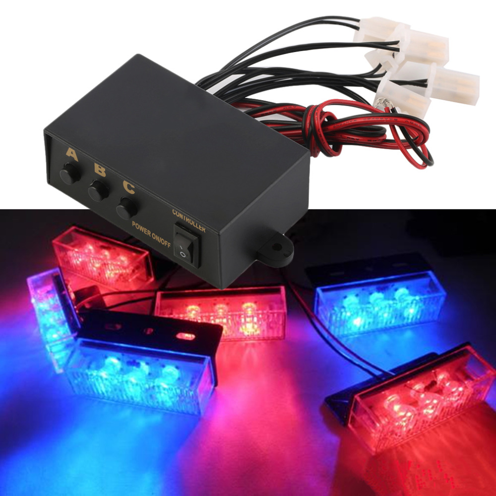 6 Ways LED Strobe Light 3 Flashing Modes Controller Lamp Emergency Flashing Controller Box 12V  For Car Motorcycle Hot