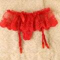 Женщины Девушки Sexy Цветочные Кружева Чулок Стринги Держите Чулок Подвязки