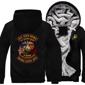 Image 2 - Personality United States Marine Corps Coat Casual Fashion Hooded Zipper Hoodies Autumn Winter Mens Jackets