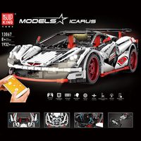 Remote Control Series MOC 3918 Veneno Roadster 13067 Set LegoED Technic Kids Building Blocks Bricks APP RC Cars
