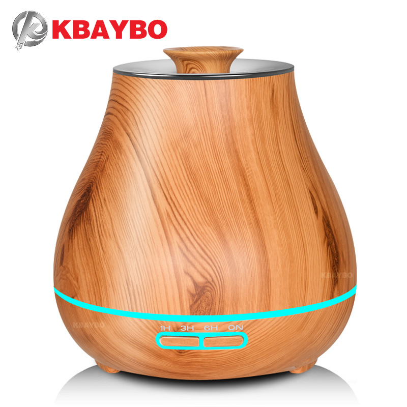 KBAYBO Aroma Essential Oil Diffuser Ultrasonic Air Humidifier with Wood Grain electric LED Lights aroma diffuser for home kbaybo aroma essential oil diffuser ultrasonic air humidifier with wood grain electric led lights aroma diffuser for home