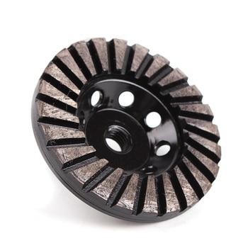 GD27 Diamond Metal Abrasive Polishing Pad Turbo Grinding Disc Grinding Wheel for Stone and Concrete Terrazzo Floor 9PCS