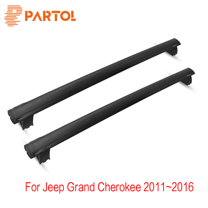 Partol Roof Rack Crossbars Cargo Basket Carrier Anti-theft Lock System For Jeep Grand Cherokee 2011 2012 2013 2014 2015 2016