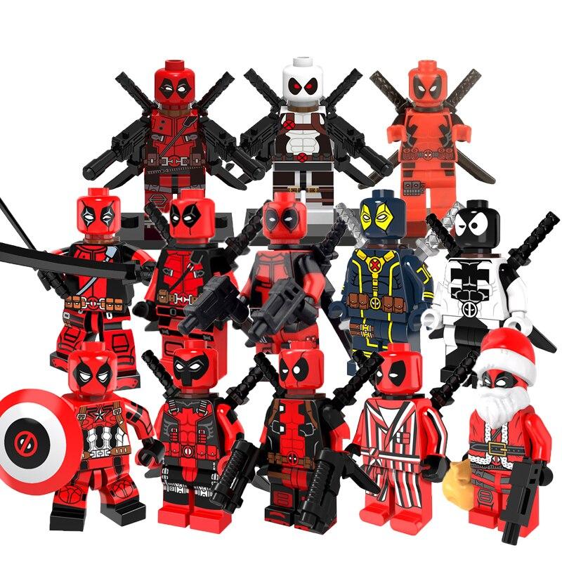 Deadpool Figure Marvel Super Hero Gwen-Pool Howard The Duck Iroman Building Blocks Sets Bricks Kids Toys