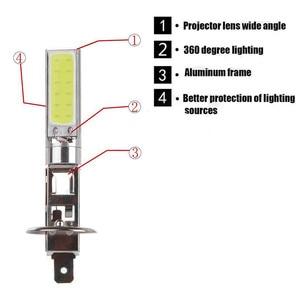 Image 5 - 2Pcs H1 COB Car LED Headlight Headlamp 6000K High Power Auto Light emitting diode Lamp Accessory 12V Car styling Fog Light Bulb