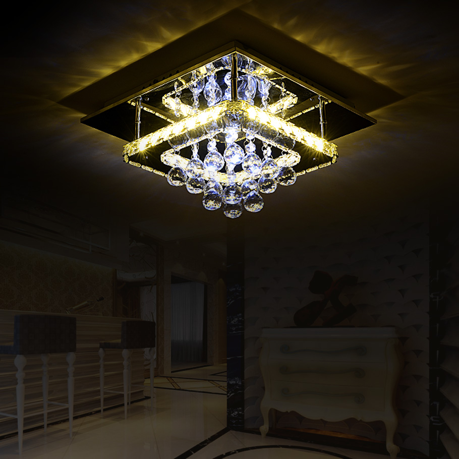 LED Modern Crystal Stainless LED Lamp LED Light Ceiling Lights Ceiling Lamp LED Ceiling Light For Foyer Bedroom Dinning Room creative star moon lampshade ceiling light 85 265v 24w led child baby room ceiling lamps foyer bedroom decoration lights