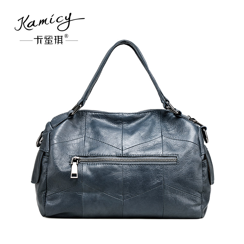 1c4bbc42c3a8 Kamicy Brand Bag Women Genuine Leather Handbag Fashion Solid Color Cowhide  Shoulder Bag Large Casual Tote Composite Women Bag-in Shoulder Bags from  Luggage ...