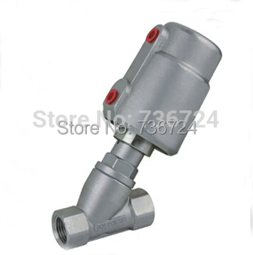 3/4 pneumatic angle seat valve stainless steel body S.S316 pneumatic stainless steel 3pc 1000 wog ball valve