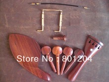 1 Set ROSEWOOD Violin Fitting with GOLD chin rest screw and Tail Gut