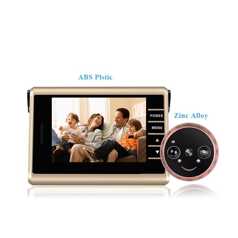 HD écran coloré Auto Vidéo Enregistrement Intelligent Porte caméra masquée PIR détecteur de mouvement Intelligent Judas Sonnette Vidéo Porte Caméra - 2