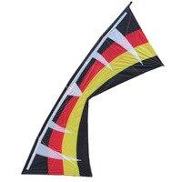 Спорт на открытом воздухе 2,55 м мощный четырехлинейный трюк кайт для начинающих с четырьмя проволочная ручка и линия хороший Летающий