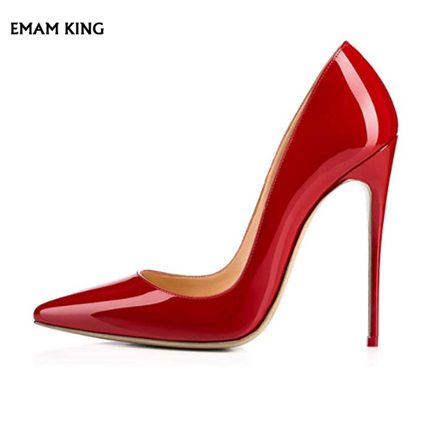EMMA KING frauen Red Heels Bogen Peep Toe Heels Stiletto