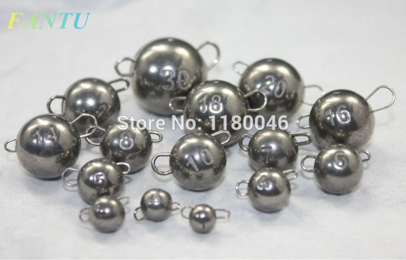 FANTU 97% Wolfram Cheburashka Fishing Weight 10pcs Tungsten Cheburashka Sinker Plain Color
