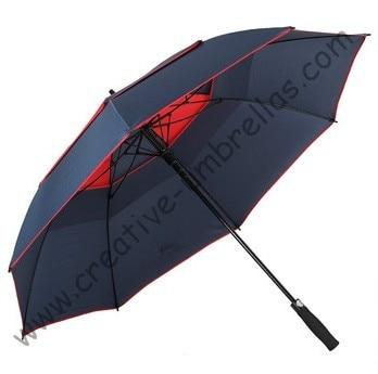 136cm diameter golf umbrella,professional making umbrellas,auto open.14mm fiberglass shaft and 5.0 fiberglass ribs,double layer