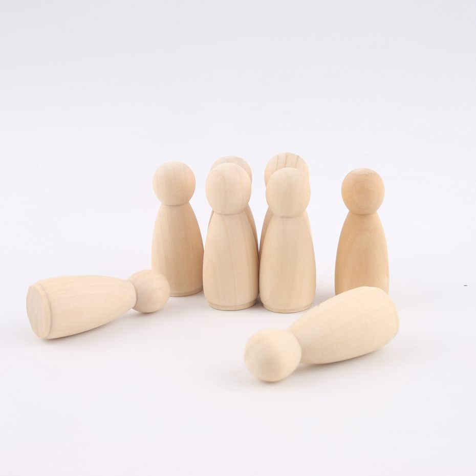 Dental Care 35-65mm Girls Boys Peg Dolls Solid Hardwood Natural Unfinished Turnings-ready Paint Stain-waldorf Wooden Toys