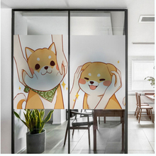 Cartoon Inuit glass window stickers frosted film waterproof sunscreen transparent opaque