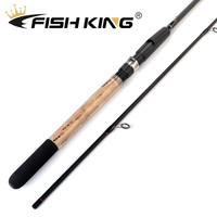 FISH KING 99% Carbon 2.1M 2.4M 2.7M 2 Section Lure Weight 5 25g Soft Lure Fishing Rod Spinning Fishing Rod