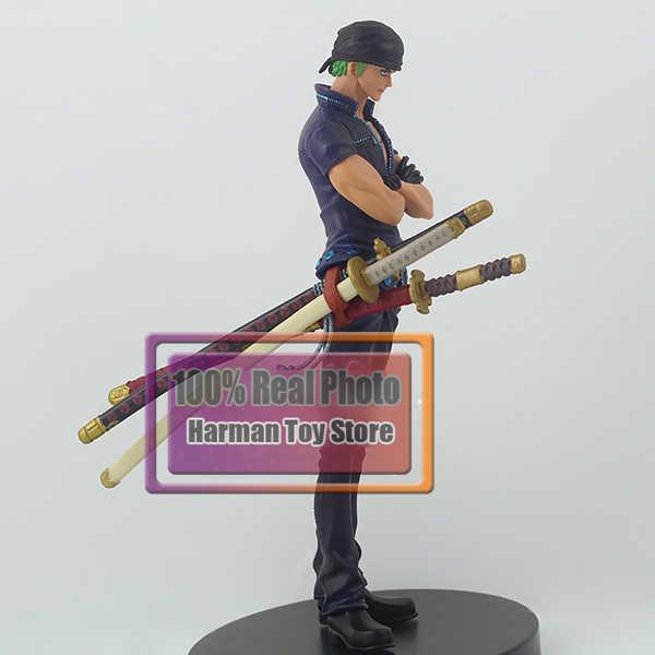 16 CM clássico Japonês figura anime one piece Roronoa Zoro colecionáveis modelo brinquedos para meninos