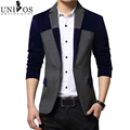 Blazers Men 2016 Spring&Autumn Fashion Men's Blazer Suit Dress Patchwork Suits For Men Blazers Business Jacket Masculino Z2360