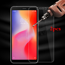 2 Pieces Screen Protector for Xiaomi Redmi 6A 6 Tempered Glass 2.5D 9H Phone Protective Film on Redmi6