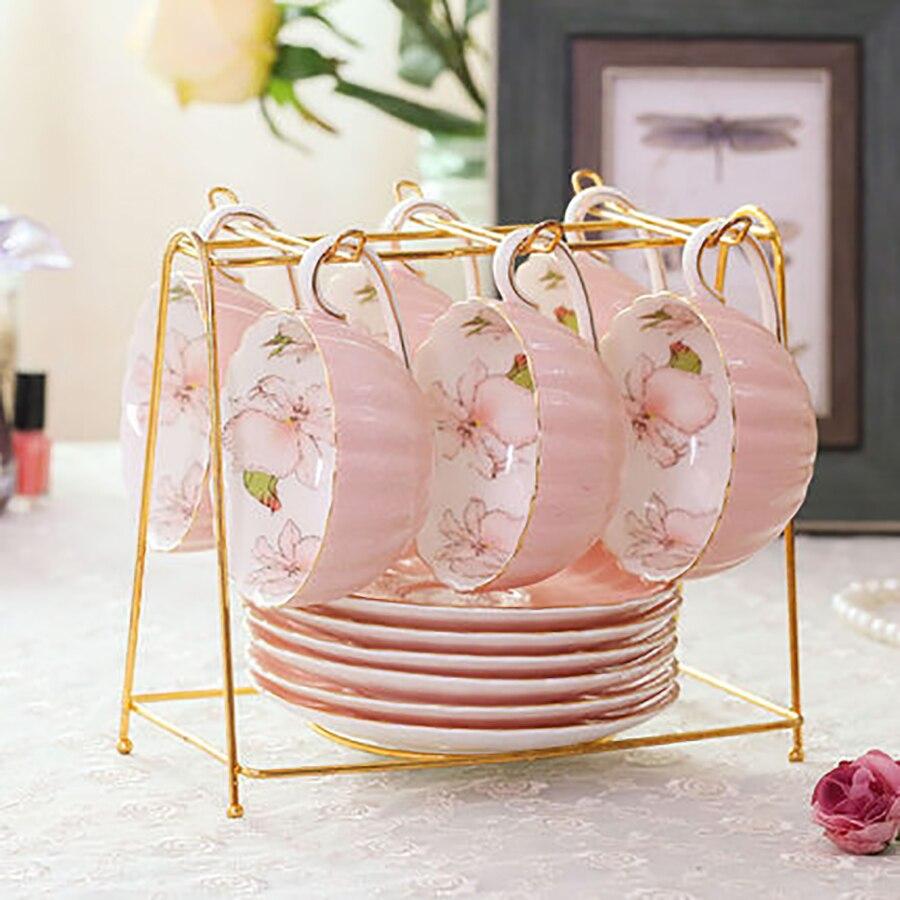 Винтажный набор кофейных чашек Керамический креативный набор керамических s чашек креативная посуда Tazas Para кафе керамическая чашка кофе ча...