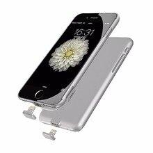 Батарея Зарядное устройство чехол для iPhone 7 резервного копирования Мощность банка для iPhone 7 Plus внешний Батарея Мощность банк чехол