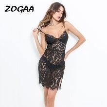 Женское вечернее мини платье zogaa Черное Кружевное облегающее