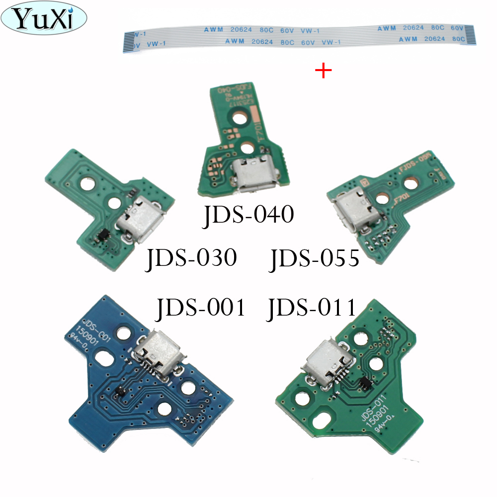 JDS-001 JDS011 JDS030 JDS040 55 USB Charging Port Socket Board Charger Board With Flex Ribbon Cable For PS4 Pro Controller Board