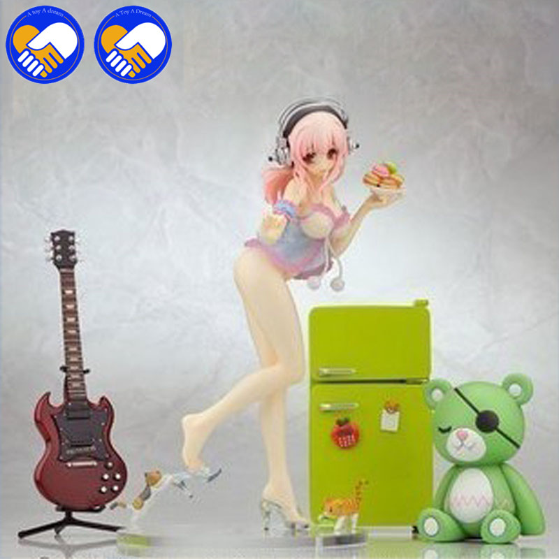 A TOY A DREAM FURYU SONICO Action & Toys Figure Super Sonic Swimsuit Ver.PVC Anime Figure Bikini Cook Girl with icebox 22 cm action figure super sonic swimsuit pvc japanese anime figure sexy girl with icebox action figure collection model toy
