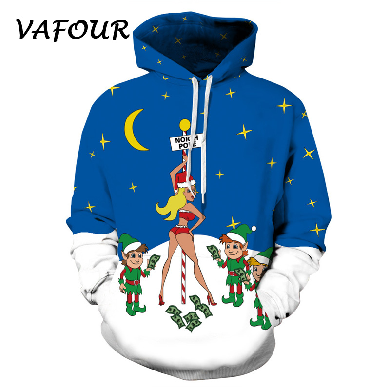 3D Christmas hat Hoodies Sweatshirts Men Women couples Print Hoodie Casual Tracksuits Fashion Regular Hoodie Coats polyester